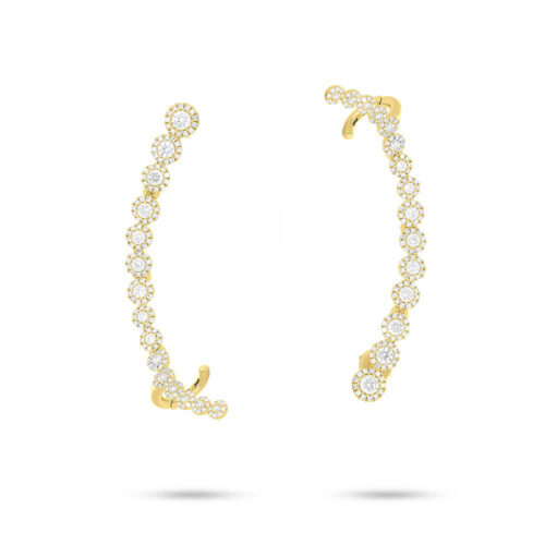 1.64ct 14k Yellow Gold Diamond Ear Crawler Earring SC55006022 500x500 - 1.64ct 14k Yellow Gold Diamond Ear Crawler Earring SC55006022