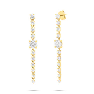 1.75ct 14k Yellow Gold Diamond Earring SC55006998 400x400 - 1.75ct 14k Yellow Gold Diamond Earring SC55006998