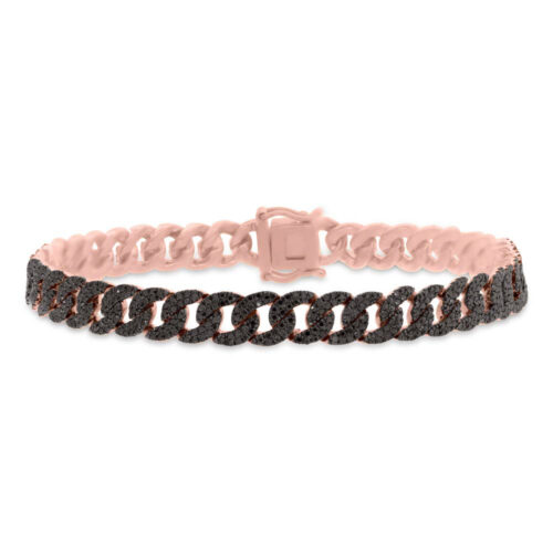 1.82ct 14k Rose Gold Black Diamond Pave Chain Bracelet SC55005800 500x500 - 1.82ct 14k Rose Gold Black Diamond Pave Chain Bracelet SC55005800