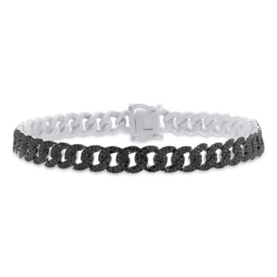 1.82ct 14k White Gold Black Diamond Pave Chain Bracelet SC55005798 400x400 - 1.82ct 14k White Gold Black Diamond Pave Chain Bracelet SC55005798