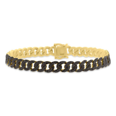 1.82ct 14k Yellow Gold Black Diamond Pave Chain Bracelet SC55005799 400x400 - 1.82ct 14k Yellow Gold Black Diamond Pave Chain Bracelet SC55005799