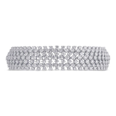 10.95ct 18k White Gold Diamond Ladys Bracelet SC37215625 400x400 - 10.95ct 18k White Gold Diamond Lady's Bracelet SC37215625