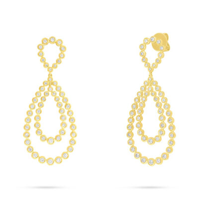2.01ct 14k Yellow Gold Diamond Earring SC55006061 400x400 - 2.01ct 14k Yellow Gold Diamond Earring SC55006061