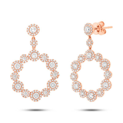 2.07ct 14k Rose Gold Diamond Earring SC55003852 400x400 - 2.07ct 14k Rose Gold Diamond Earring SC55003852