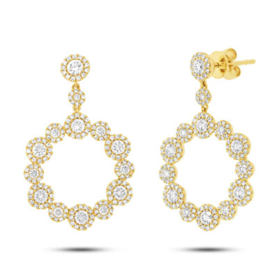 2.07ct 14k Yellow Gold Diamond Earring SC55003851 400x400 - 2.07ct 14k Yellow Gold Diamond Earring SC55003851