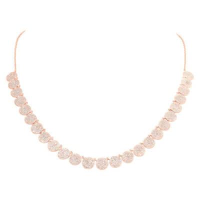 2.08ct 14k RoseGold Diamond Pave Circle Necklace SC55006186 400x400 - 2.08ct 14k RoseGold Diamond Pave Circle Necklace SC55006186