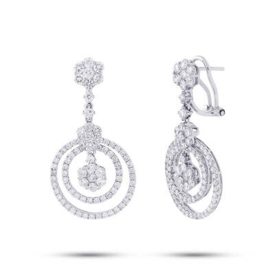 2.98ct 18k White Gold Diamond Earring SC37214951 400x400 - 2.98ct 18k White Gold Diamond Earring SC37214951