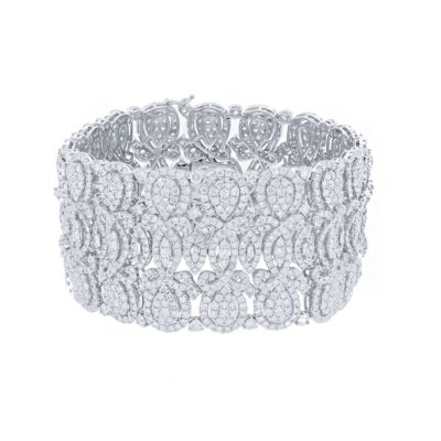 29.44ct 18k White Gold Diamond Ladys Bracelet SC37214348 400x400 - 29.44ct 18k White Gold Diamond Lady's Bracelet SC37214348