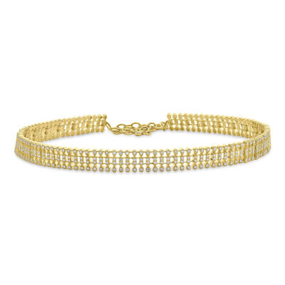 3.18ct 14k Yellow Gold Diamond Choker Necklace SC55005381 400x400 - 3.18ct 14k Yellow Gold Diamond Choker Necklace SC55005381
