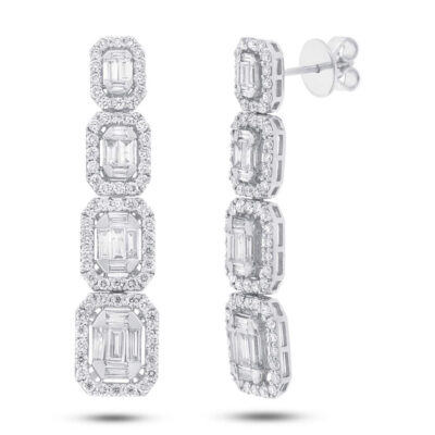 3.19ct 18k White Gold Diamond Baguette Earring SC37215074 400x400 - 3.19ct 18k White Gold Diamond Baguette Earring SC37215074