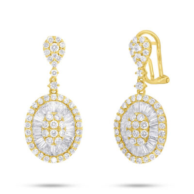3.43ct 14k Yellow Gold Diamond Baguette Earring SC37215632 400x400 - 3.43ct 14k Yellow Gold Diamond Baguette Earring SC37215632