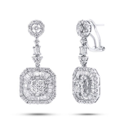 3.51ct 18k White Gold Diamond Earring SC37214420 400x400 - 3.51ct 18k White Gold Diamond Earring SC37214420