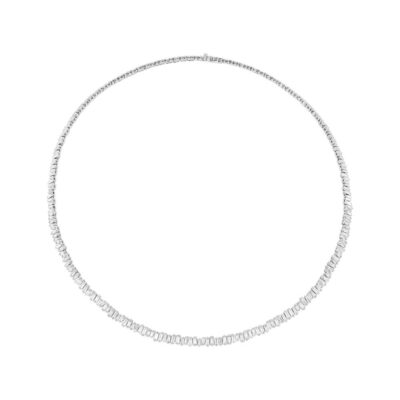 3.96ct 14k White Gold Diamond Baguette Choker Necklace SC37215351 400x400 - 3.96ct 14k White Gold Diamond Baguette Choker Necklace SC37215351