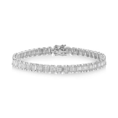 4.00ct 18k White Gold Diamond Baguette Bracelet SC37215296 400x400 - 4.00ct 18k White Gold Diamond Baguette Bracelet SC37215296