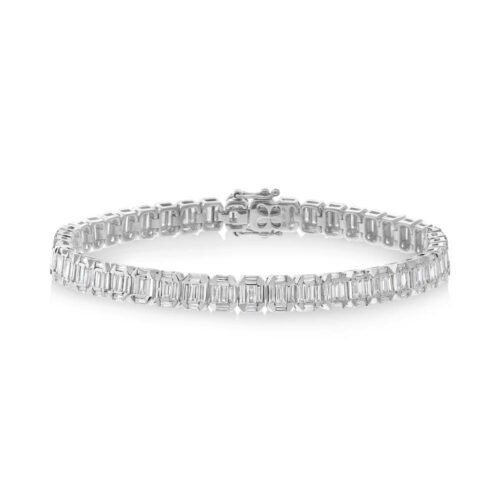 4.00ct 18k White Gold Diamond Baguette Bracelet SC37215296 500x500 - 4.00ct 18k White Gold Diamond Baguette Bracelet SC37215296