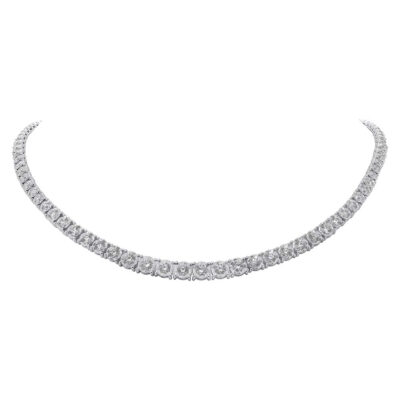 4.39ct 14k White Gold Diamond Tennis Necklace SC55005140 2 400x400 - 4.39ct 14k White Gold Diamond Tennis Necklace SC55005140