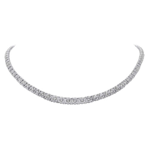 4.39ct 14k White Gold Diamond Tennis Necklace SC55005140 2 500x500 - 4.39ct 14k White Gold Diamond Tennis Necklace SC55005140