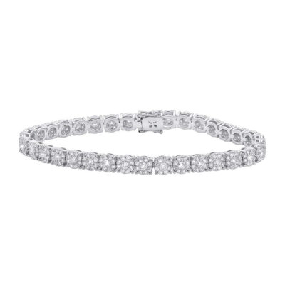 4.43ct 18k White Gold Diamond Ladys Bracelet SC37215097 400x400 - 4.43ct 18k White Gold Diamond Lady's Bracelet SC37215097