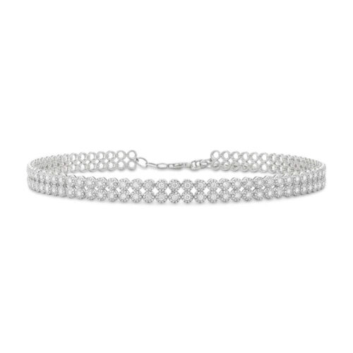 4.65ct 14k White Gold Diamond Choker Necklace SC55005059 500x500 - 4.65ct 14k White Gold Diamond Choker Necklace SC55005059