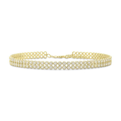 4.65ct 14k Yellow Gold Diamond Choker Necklace SC55005060 400x400 - 4.65ct 14k Yellow Gold Diamond Choker Necklace SC55005060