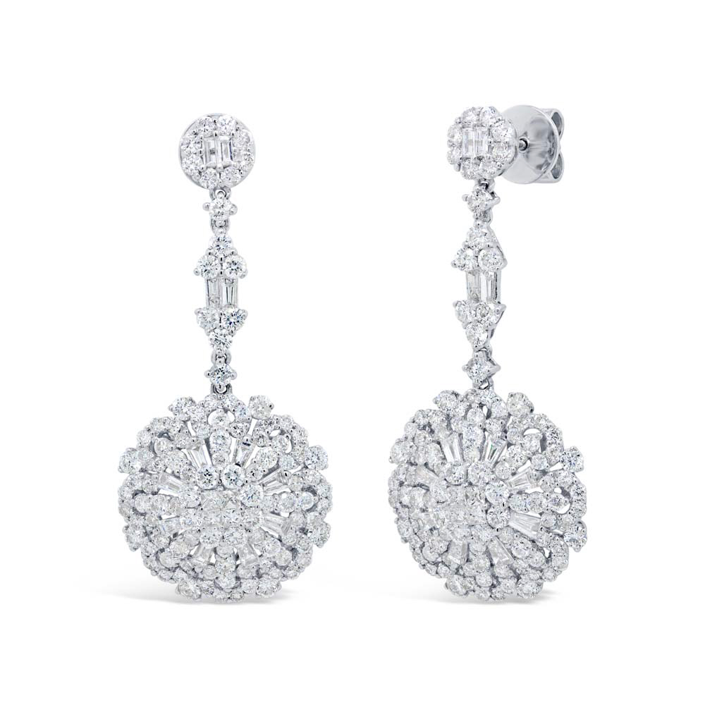 women nl flower diamond earrings gold earring fascinating stud wg in with jewelry white