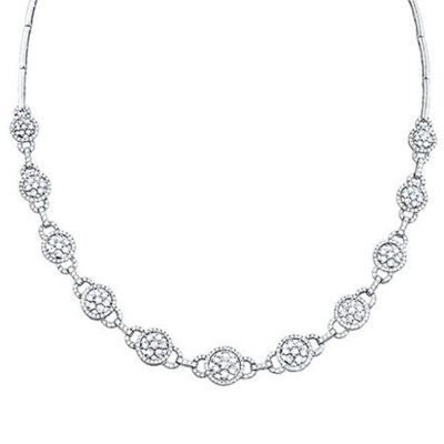5.15ct 14k White Gold Diamond Necklace S44 1 400x400 - 5.15ct 14k White Gold Diamond Necklace S44-1