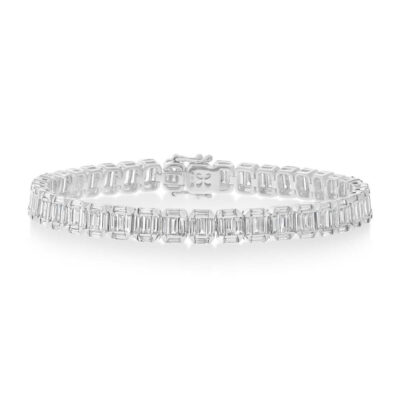 5.29CT 18k White Gold Diamond Baguette Bracelet SC37215296V2 400x400 - 5.29CT 18k White Gold Diamond Baguette Bracelet SC37215296V2