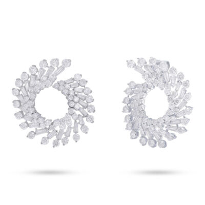 6.19ct 18k White Gold Diamond Baguette Earring SC66001237 400x400 - 6.19ct 18k White Gold Diamond Baguette Earring SC66001237