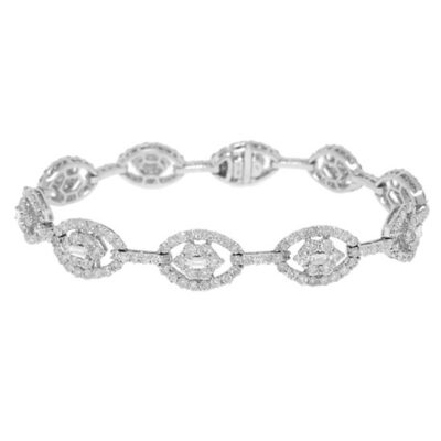 6.71ct 18k White Gold Diamond Ladys Bracelet CO37213106 400x400 - 6.71ct 18k White Gold Diamond Lady's Bracelet CO37213106
