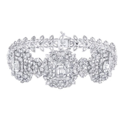 7.18ct 18k White Gold Diamond Ladys Bracelet SC37215043 400x400 - 7.18ct 18k White Gold Diamond Lady's Bracelet SC37215043