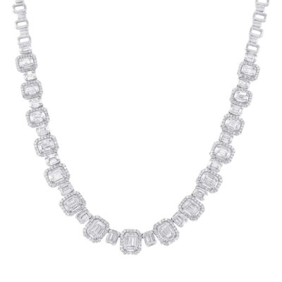 7.73ct 18k White Gold Diamond Baguette Necklace SC37215069 400x400 - 7.73ct 18k White Gold Diamond Baguette Necklace SC37215069