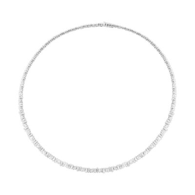 9.32ct 14k White Gold Diamond Baguette Choker Necklace SC37215352 400x400 - 9.32ct 14k White Gold Diamond Baguette Choker Necklace SC37215352