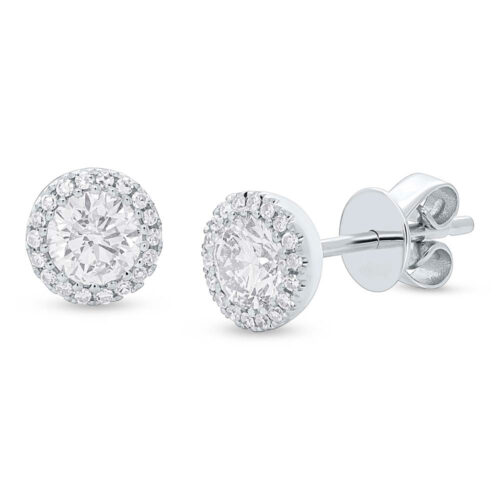 z sc55005503 500x500 - 0.80ct Round Brilliant Center and 0.10ct Side 14k White Gold Diamond Stud Earring SC55005503